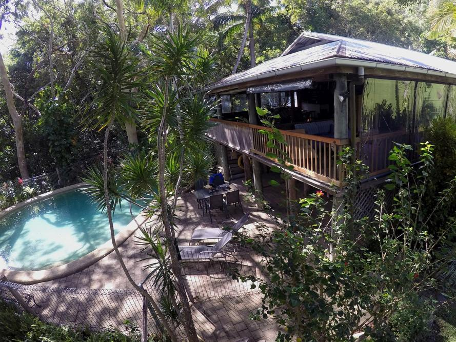 Poolbereich, Mungumby Lodge, Cooktown, Australien Rundreise