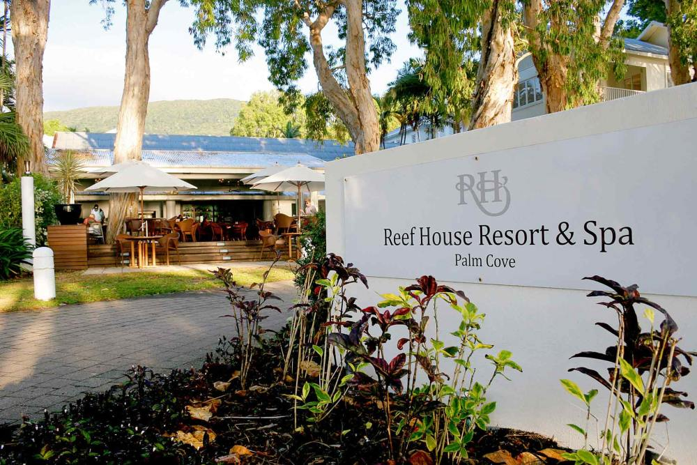 Eingangsbereich, Reef House & Spa Palm Cove, Australien Rundreise
