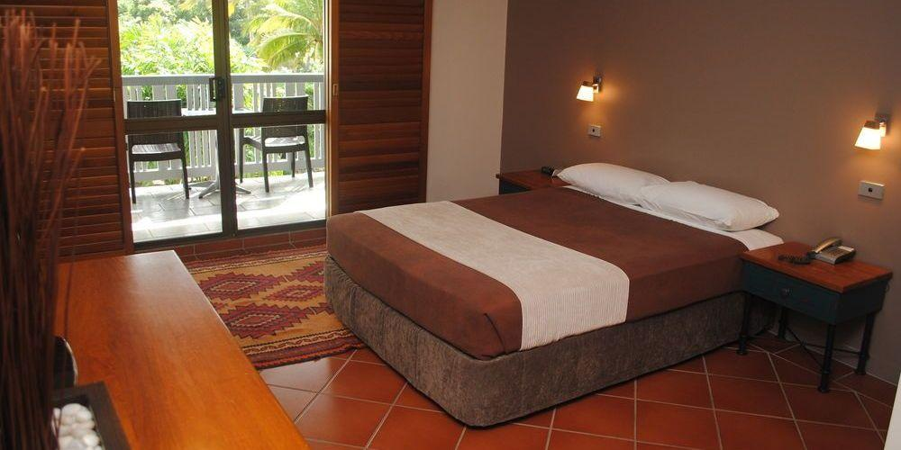 Schlafzimmer, The Sovereign Resort Hotel, Cooktown, Australien Rundreise