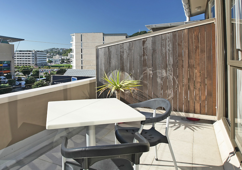 Balkon, At Home Wellington City, Neuseeland Reise