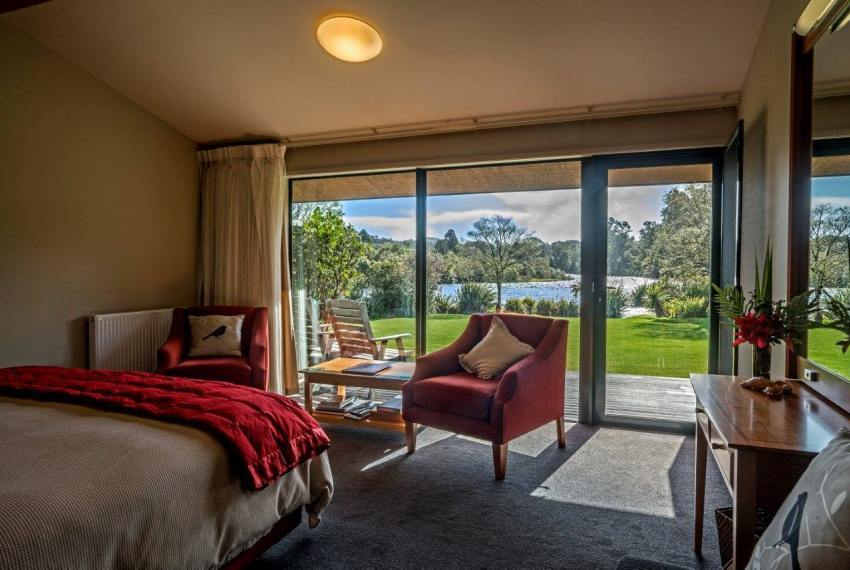 Ausblick, Wildnerness Lodge Lake Moeraki, Neuseeland Rundreise