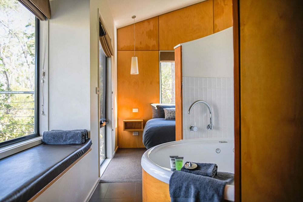 Spa-Zimmer, Cradle Mountain Wilderness Lodge, Tasmanien Rundreise
