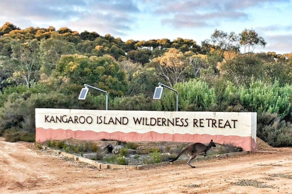 Zufahrt, Kangaroo Island Wilderness Retreat, Hotel in Flinders Chase, Australien Rundreise