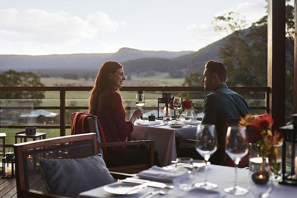Terrasse, Emirates One & Only Wolgan Valley, Australien Rundreise