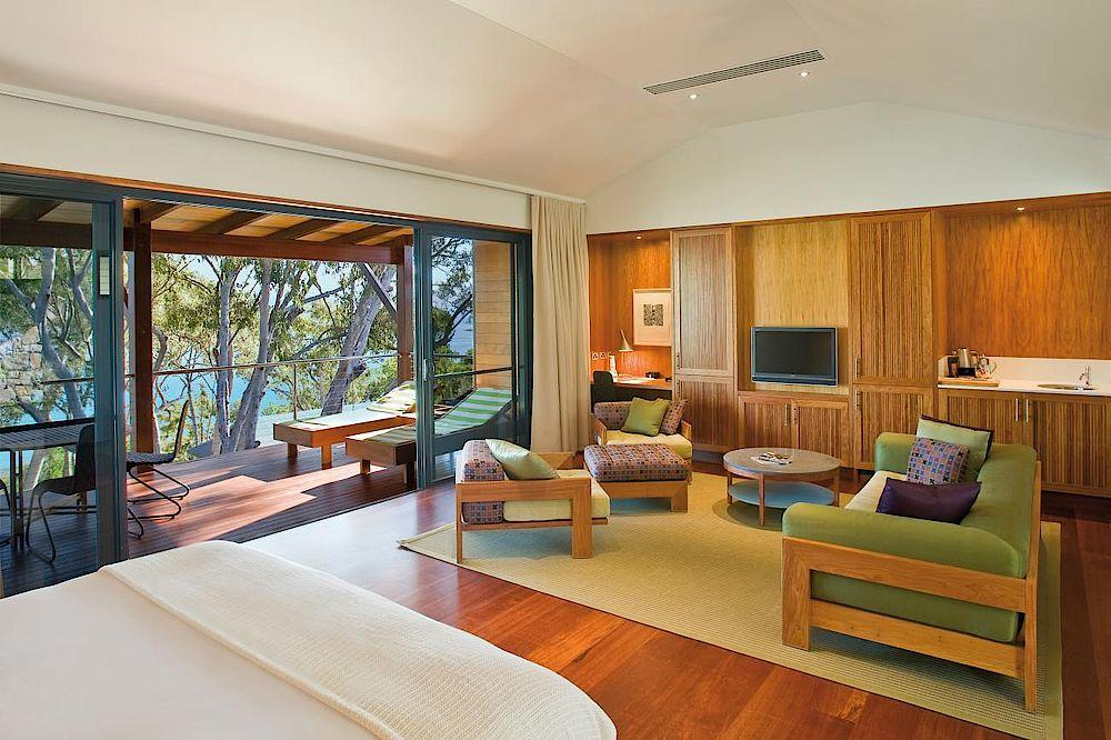 Wohnzimmer, Qualia, Luxury Resort, Whitsundays, Australien Rundreise