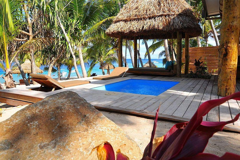 Privater Pool, Paradise Cove Resort, Fiji, Südsee Reise