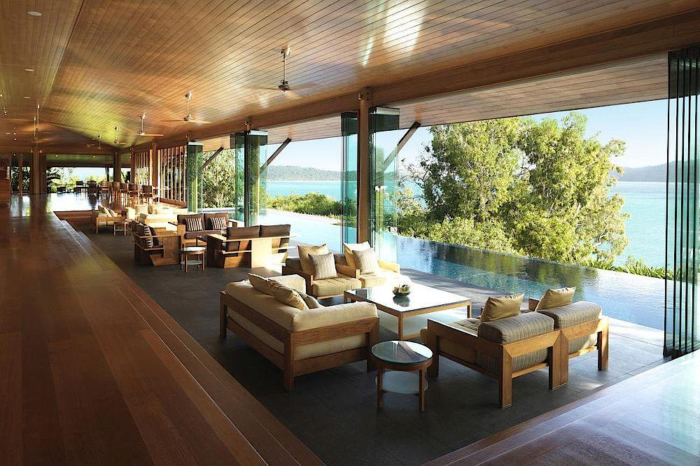 Lounge, Qualia, Luxury Resort, Whitsundays, Australien Rundreise