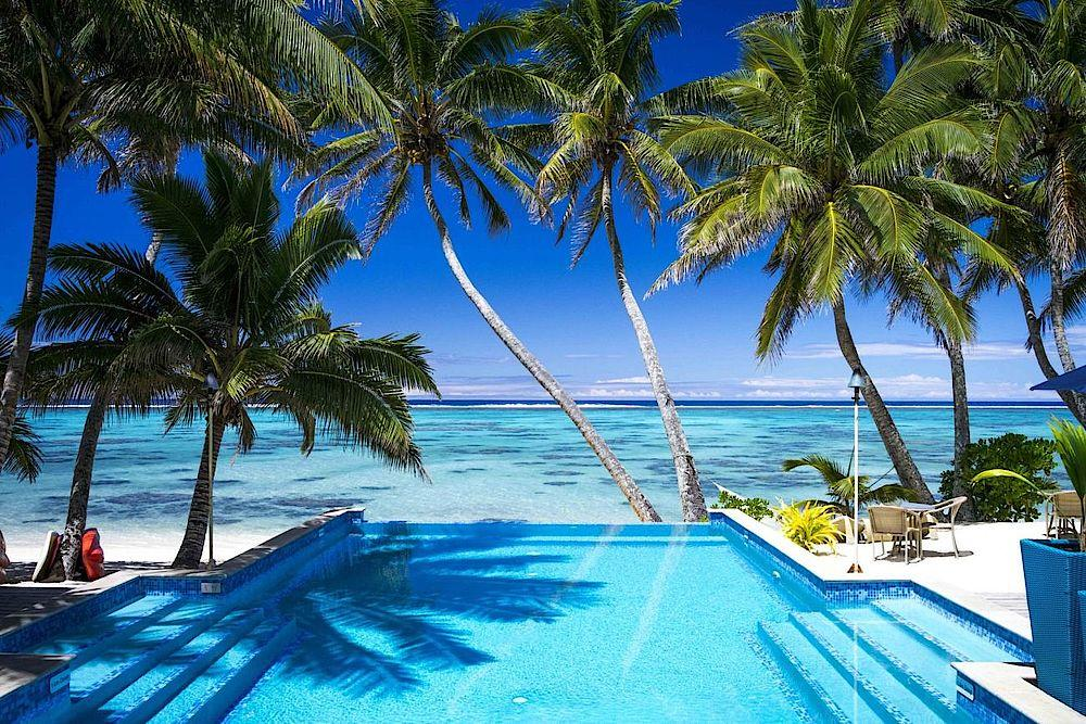 Pool, Little Polynesian Resort, Cook Islands, Südsee Reise