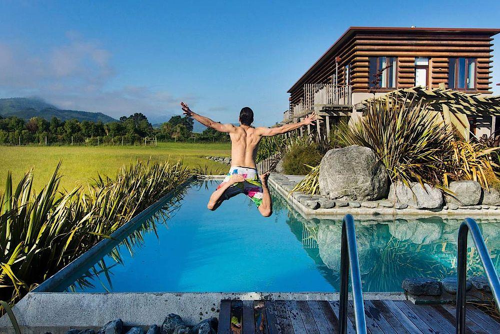 Pool, Hapuku Lodge & Tree Houses, Kaikoura, Neuseeland Rundreise