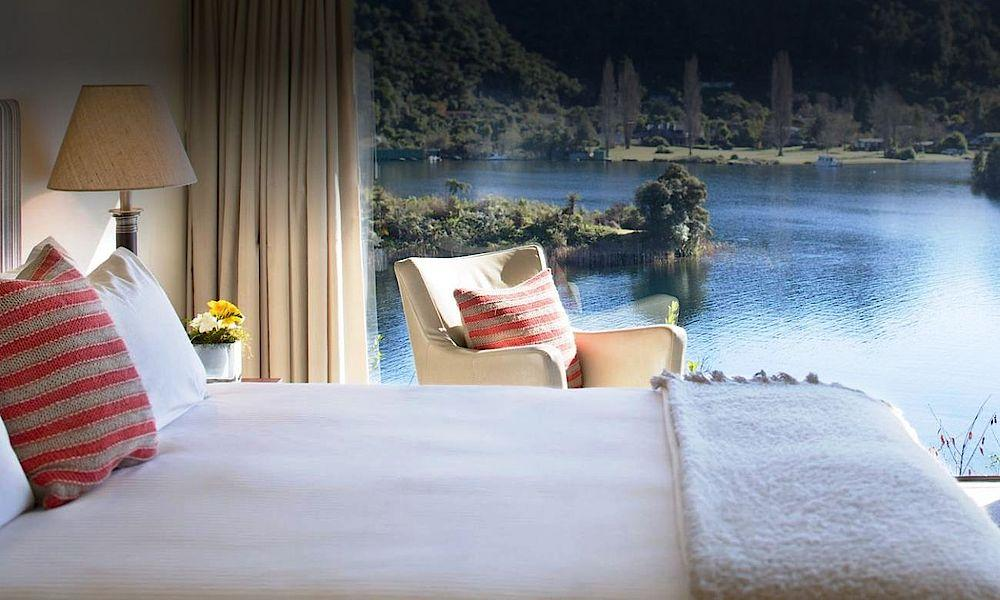 Executive Suite, Solitaire Lodge, Rotorua, Neuseeland Reise