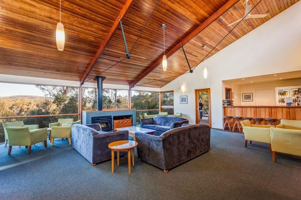 Lounge, Cradle Mountain Wilderness Lodge, Tasmanien Rundreise
