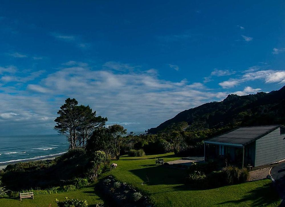 Panoramablick, Breakers Boutique Accommodation, Greymouth, Neuseeland Rundreise