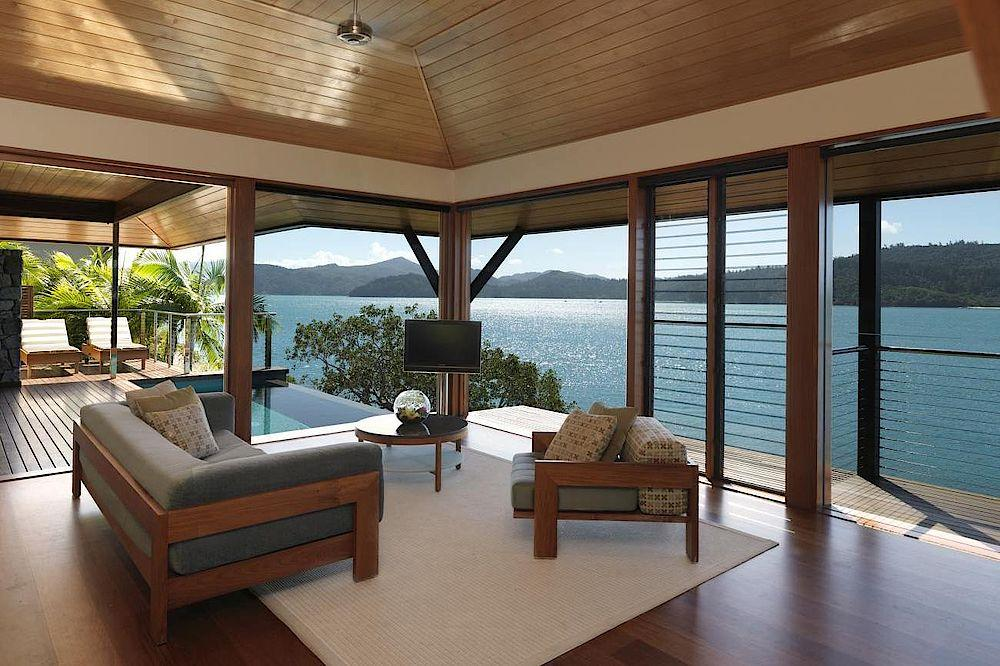 Wohnbereich, Qualia, Luxury Resort, Whitsundays, Australien Rundreise