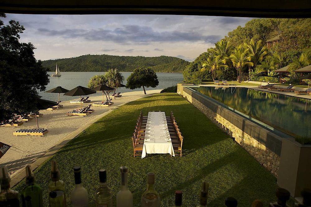 Terrasse, Qualia, Luxury Resort, Whitsundays, Australien Rundreise