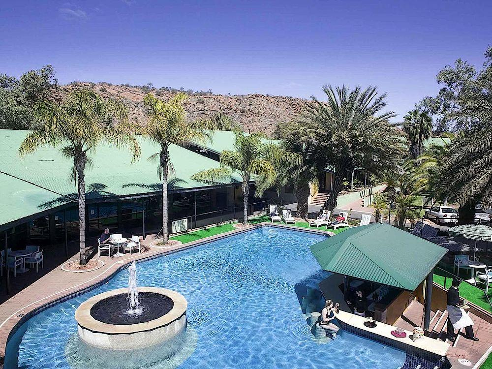 Poolbereich, Mercure Alice Springs Resort, Australien Rundreise